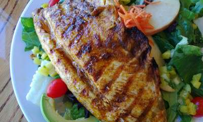 Mexican Chopp Salad w/Grilled Trout @ Fish's Wild Fish Grill
